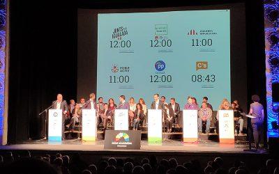 Debat d'alcaldables de la ciutat d'Igualada a l'Ateneu Igualadí